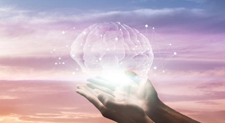 cerebro cielo rosa